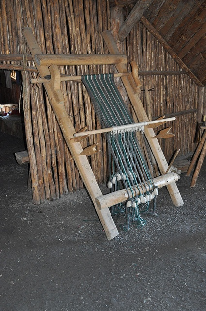 warp weighted loom at L'Anse aux Meadows, Newfoundland, Canada