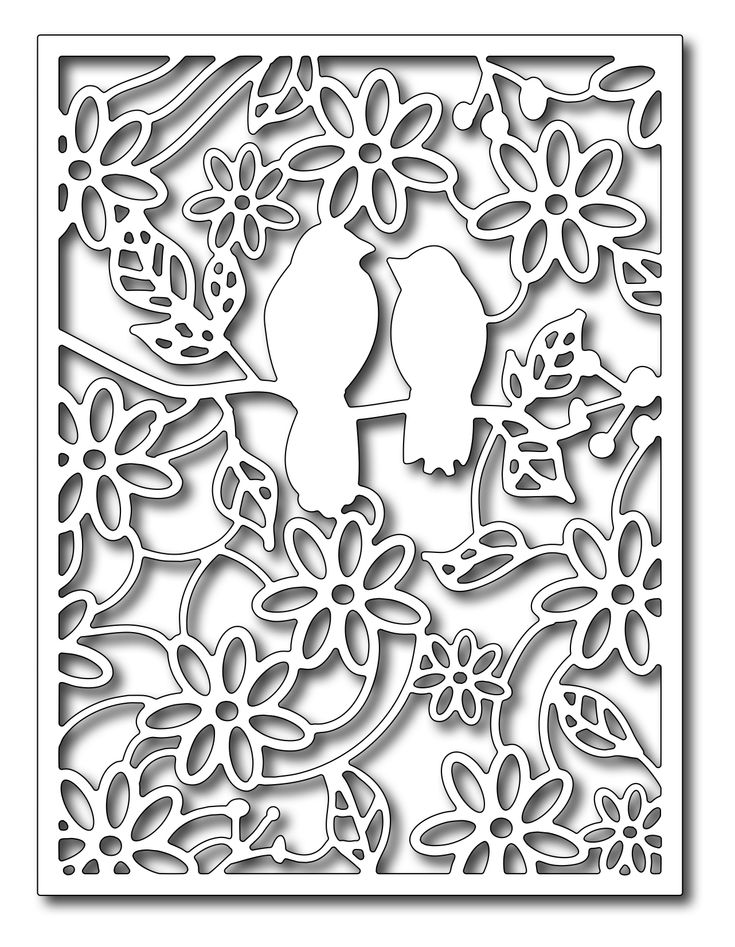 Frantic Stamper - Precision Dies - Rainforest Birds Card Panel