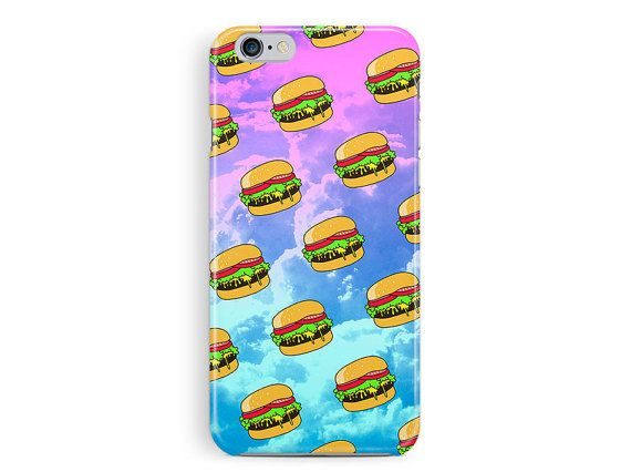 BURGER iPhone 6 Case, cheeseburger iPhone 6 case, hamburger iPhone 6 case, pop culture illustration, meme iphone case, awesome cell case