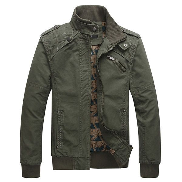 Plus size loose stand collar outdoor jackets ($44) ❤ liked on Polyvore featuring men's fashion, men's clothing, men's outerwear, men's jackets, army green, mens leather sleeve jacket, mens collared jacket, men's stand up collar jacket, mens olive green jacket and plus size mens jackets