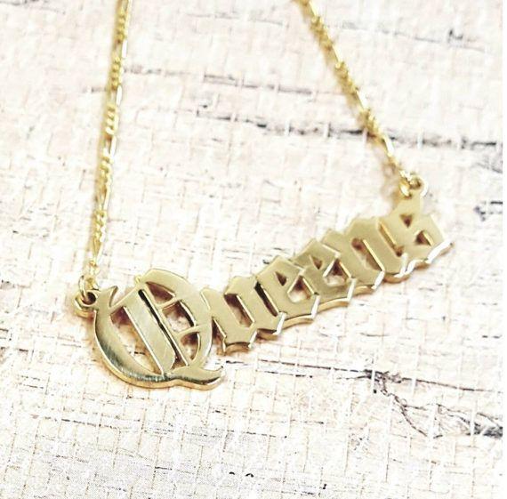 61 best bestnamenecklace images on Pinterest Name necklace Gold