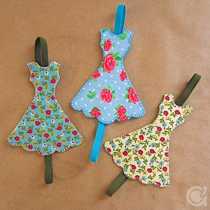 How to make these cute fabric book marks