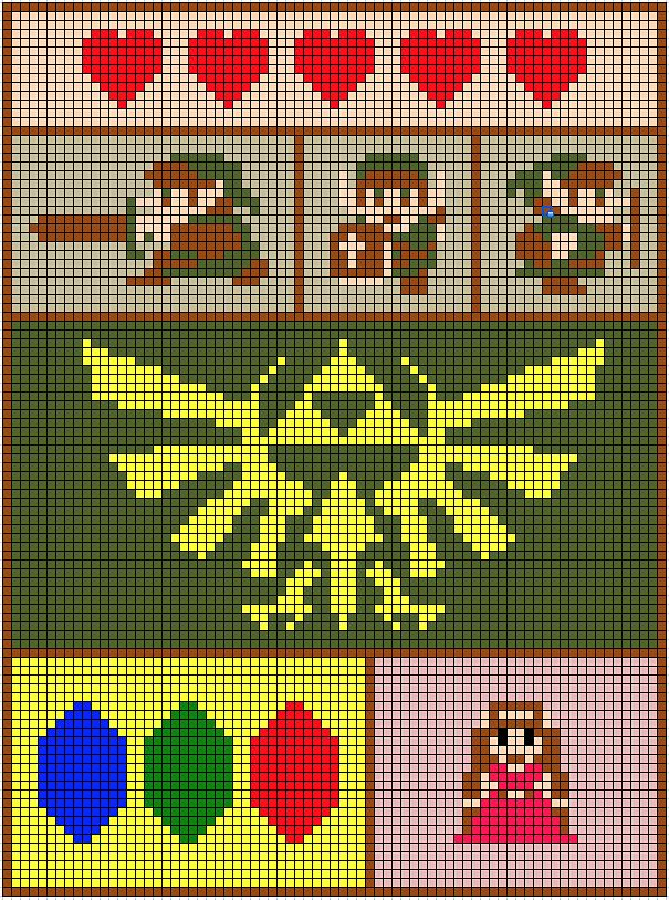 Zelda Blanket 8-bit images design.