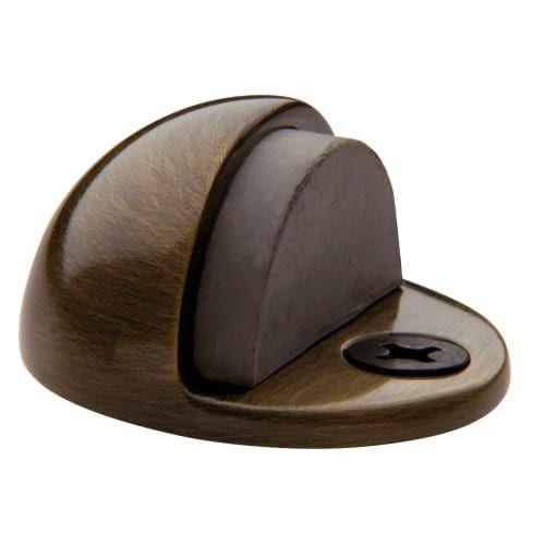 Baldwin 4005 1-1/4 Inch Half Dome Brass Door Bumper (satin brass and black)