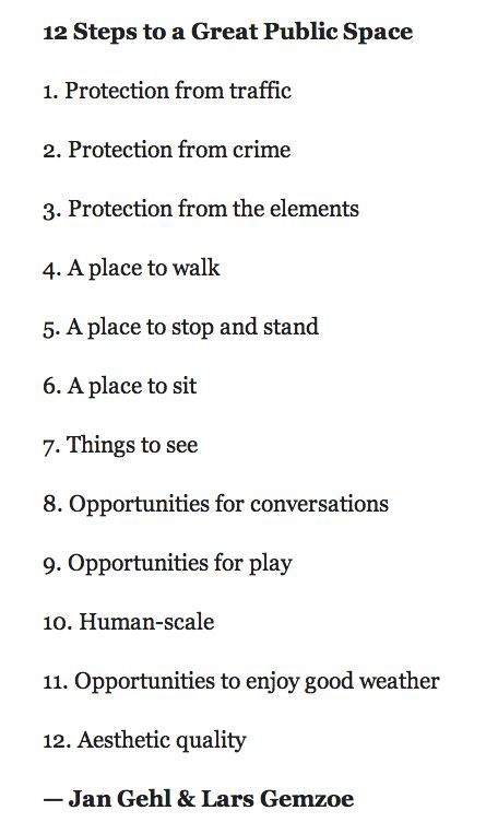 12 tips to a great public space