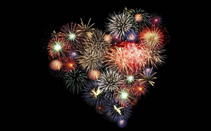 Vuurwerk hart