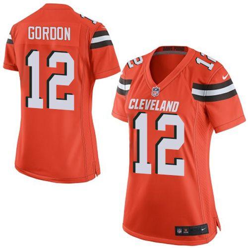 $24.99 Nike Elite Josh Gordon Orange Women's Jersey - Cleveland Browns #12 NFL Alternate