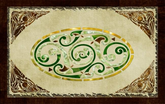 Celtic Old Traditional Tapestry Folk Motif by Renee Lozen