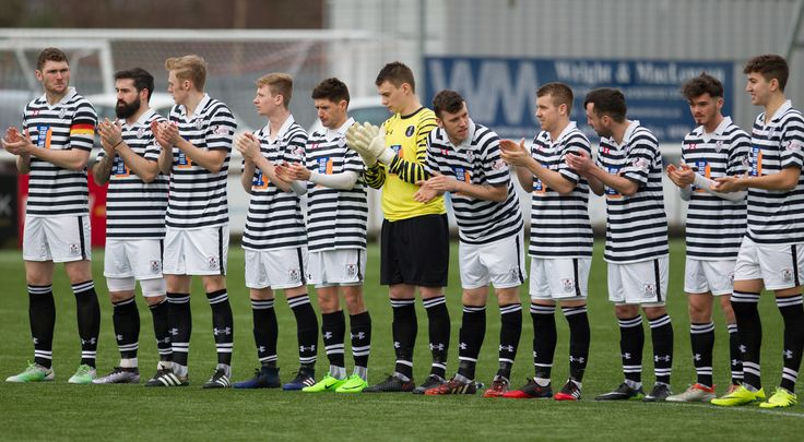 Queen's Park players before the Ladbrokes League One game between Stenhousemuir and Queen's Park.