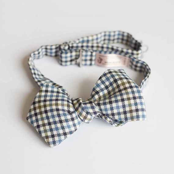 Bow tie for men  beautiful checkered  self by goldenbeastsfashion