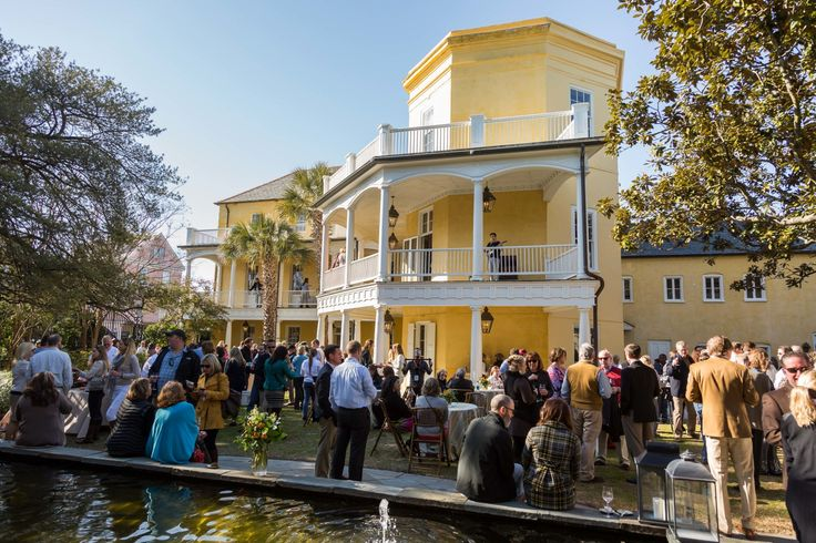 The William Aiken House offers a unique Downtown Charleston setting on Upper King Street | Sweeping piazzas, historic architecture and lush grounds are sure to impress during your end-of-year or holiday party | Photo by Adam Chandler