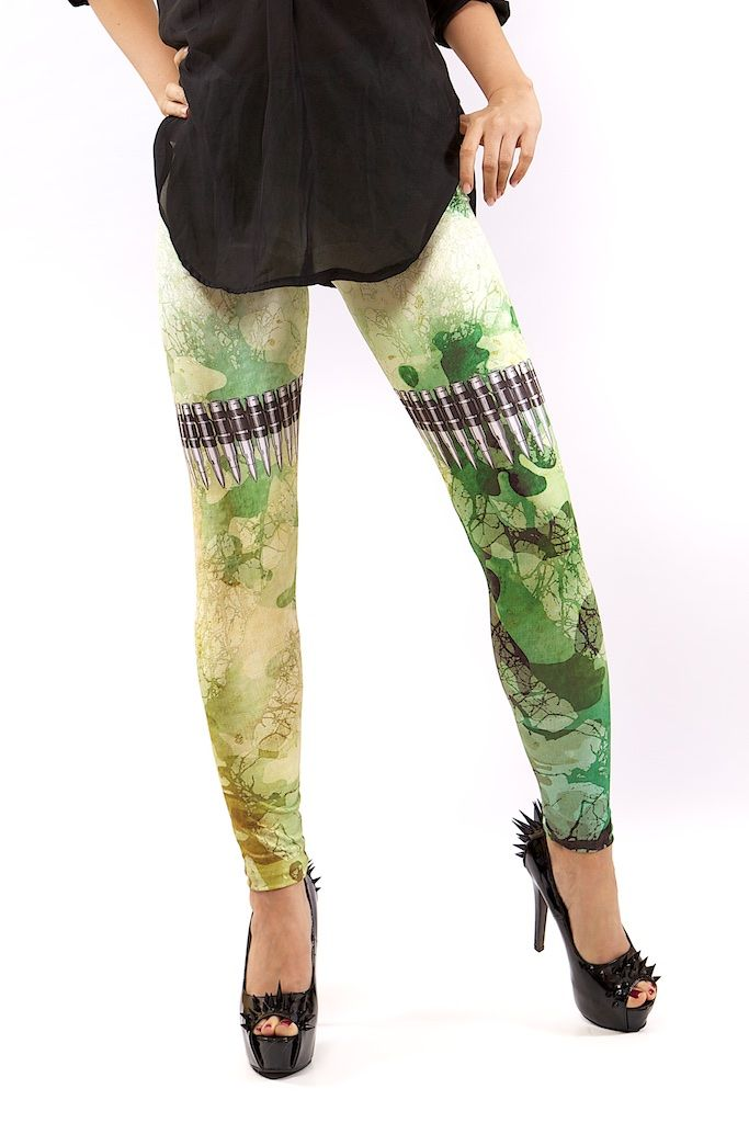 BULLETS LEGGINGS FOR WOMEN – MOLEECO CLOTHING Perfectly printed leggings with the unique moleeco motives They really fit great!  Composition: 82% Polyester / 18% Spandex Garment Care: Washing Machine :) Print placement may vary. Handling Time: up to 8 working days