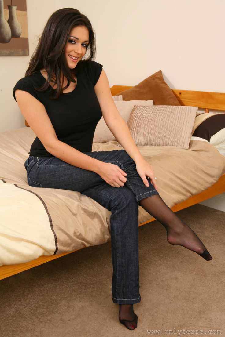 Feet pantyhose jeans images-6710