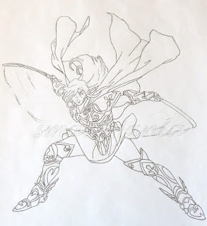 My son's Manga drawing