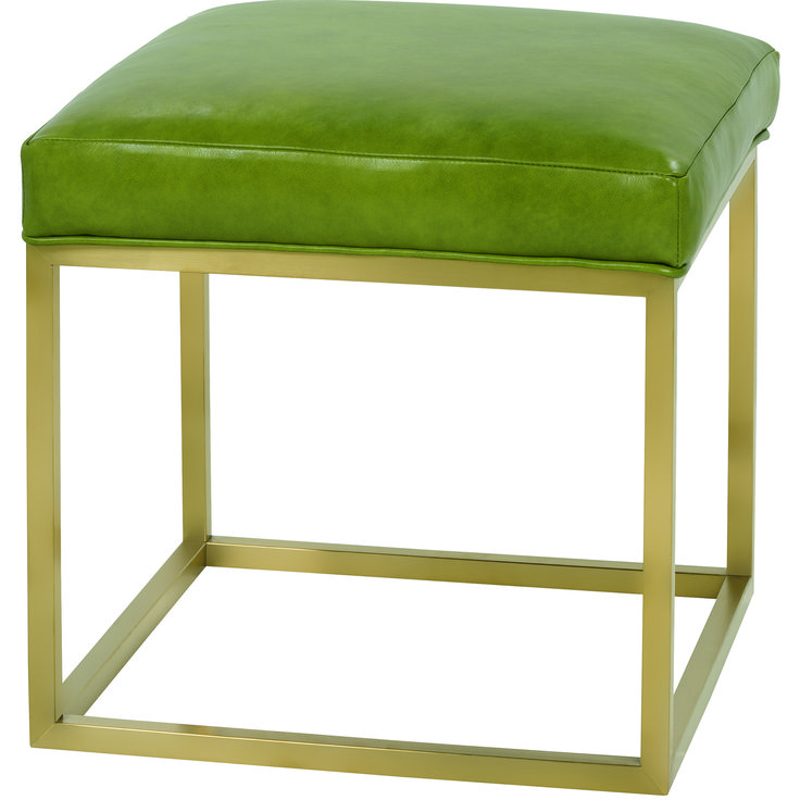 Percy Leather Cube Ottoman | Rowe Furniture | Home Gallery Stores