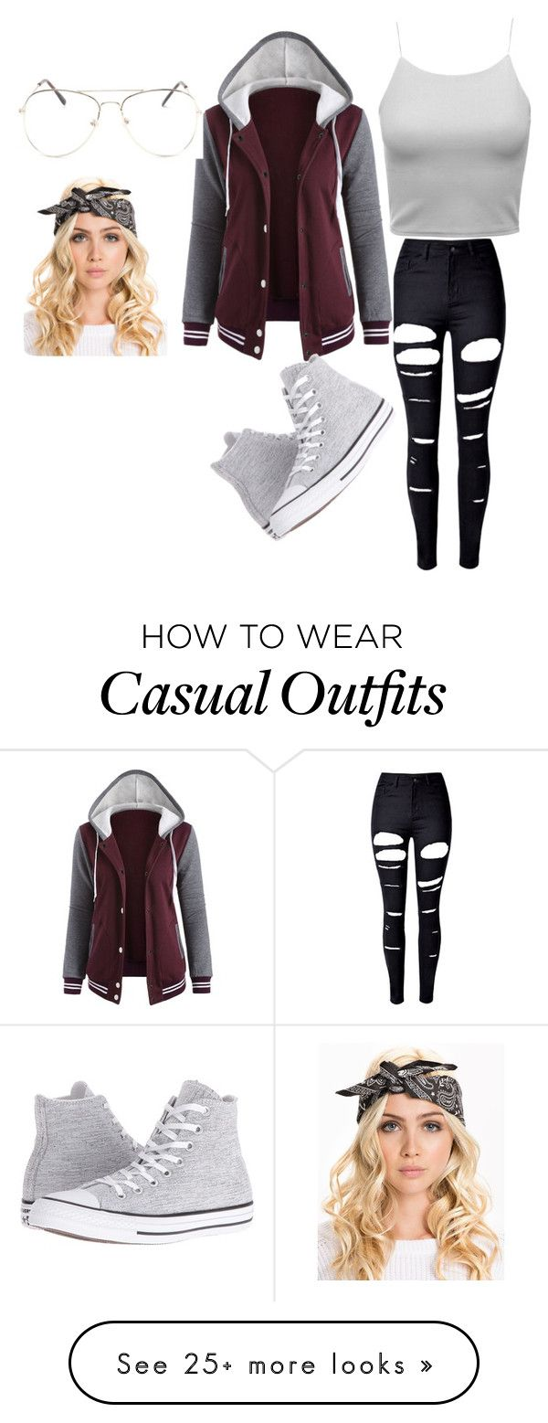 """""""Casual."""" by temariatyler on Polyvore featuring WithChic and Converse"""