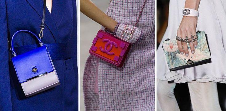 Mettete da parte shopping bag e secchielli in formato extralarge. La bella stagione segna il trionfo di tracolle e pochette in formato mignon. La