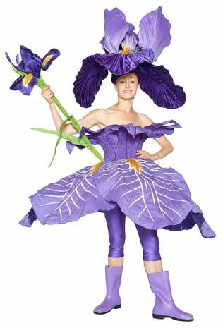 Flower costume slightly odd don't really like those boots