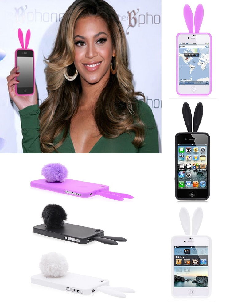 Beyonce has a cute iPhone 4 case bunny ears. If you want this case, you can choose between pink, white and black colors.
