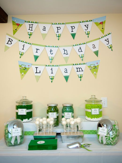 golf: Kid Golf, Kids Golf Birthday Party, Party'S, Parties, Golf Party Ideas, Banner Idea, Cake Pop, Liam, Birthday Ideas