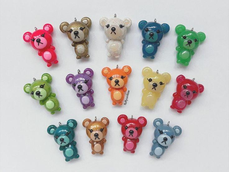 Cute polymer clay bears