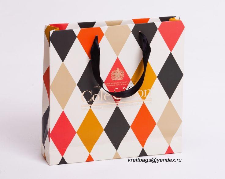 Бумажный пакет с тиснением и ламинацией