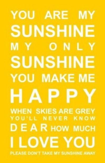Good Morning Sunshine You Are My Sunshine : Here comes the sun a collection of ideas to try about