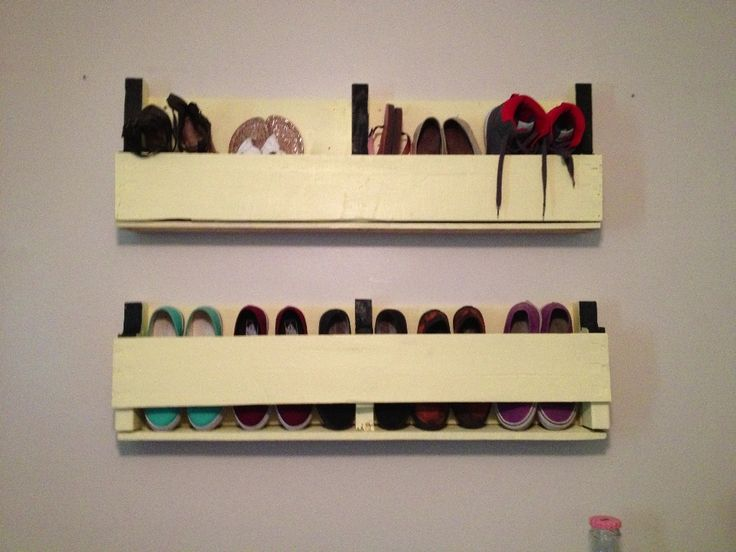 Wall Mounted Shoe Rack Large : Wall Mount Shoe Rack Organization ...