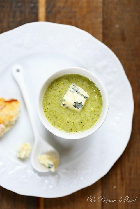 Soupe de brocoli et bleu
