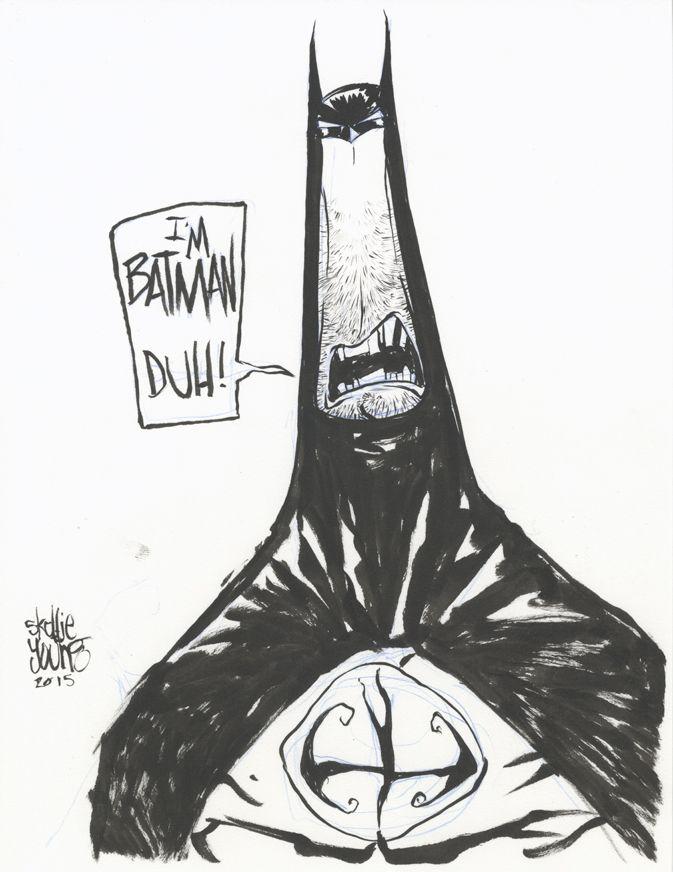 #DailySketch Batman Original Sketch available in my shop http://skottieyoungstore.bigcartel.com