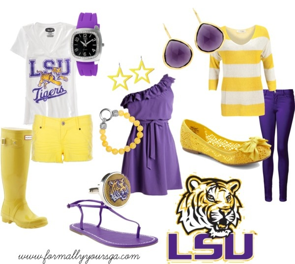 """LSU Game Day"" by formallyyoursga on Polyvore"
