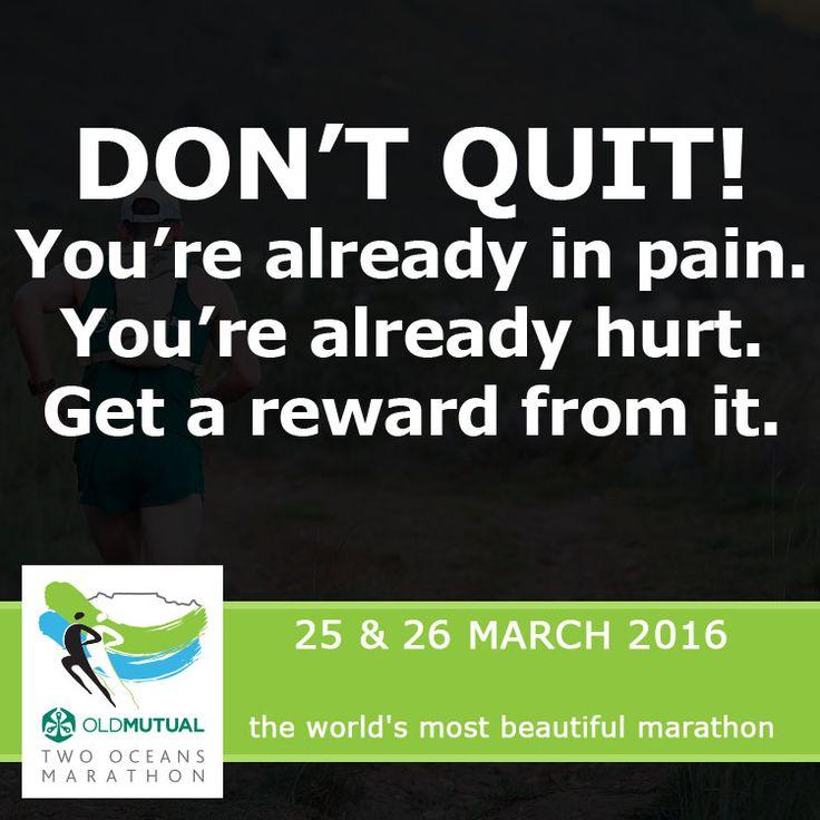 You gotta work through the pain to get the rewards!