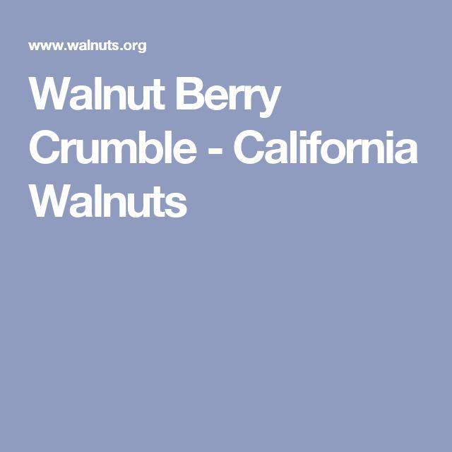 Walnut Berry Crumble - California Walnuts