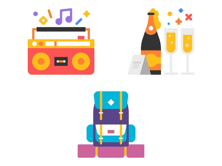 Stickers by Tamer Koseli #icon #iconic #picto #illu #illustration #flat #flatdesign #minimal