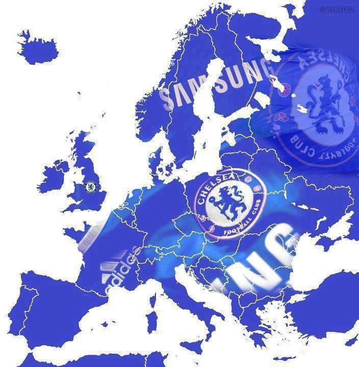 Europe is BLUE