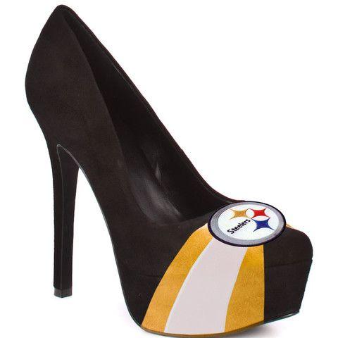 perfect!!!Football Seasons, Fashion, Hells Yeah, Steelers Fans, High Heels, Pittsburgh Steelers Shoes, Black, Suede Pump, Steelers Heels