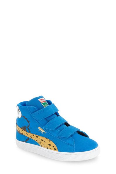 Image of PUMA Suede Sesame Street - Cookie Monster High Top Sneaker (Toddler & Little Kid)