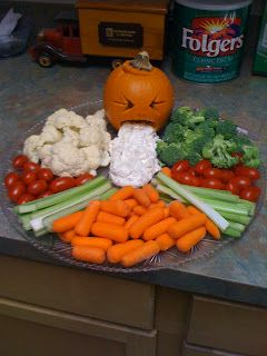 halloween veggie tray | My friend Yvonne brought this hilarious veggie tray, complete with ...