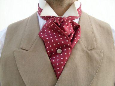 Boys Cravat Wedding Ascot Necktie Formal Party One Size Shimmery Dark Red Wedding & Formal Occasion