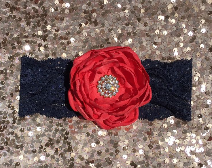 Coral headband, coral gold navy headband, coral navy flower girl headband, coral gold hair clip, navy blue stretch lace, gold rhinestone by LuxeBowsandBeads on Etsy https://www.etsy.com/listing/210928725/coral-headband-coral-gold-navy-headband