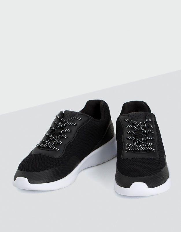Fabric sneakers - Gymwear - Clothing - Woman - PULL&BEAR Singapore