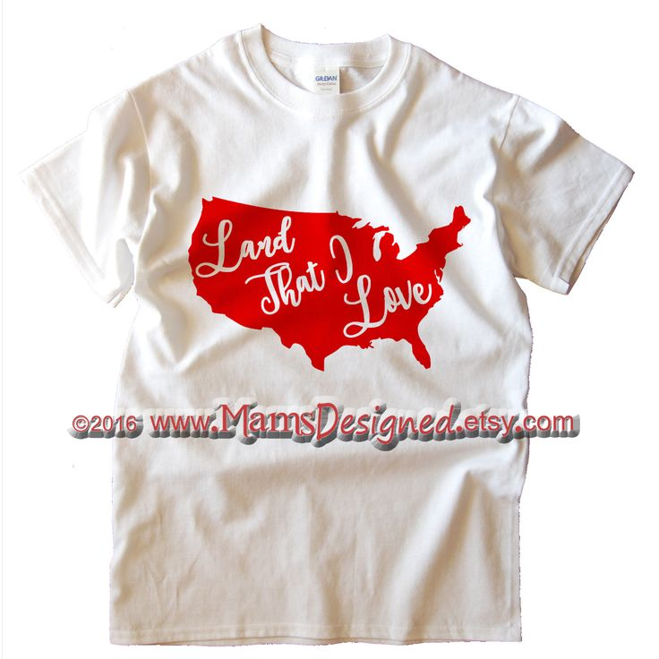 America Land That I Love T-shirt | Baby, Youth and Adult | Patriotic Clothing | Americana Shirt | U.S.A. by MamsDesigned on Etsy
