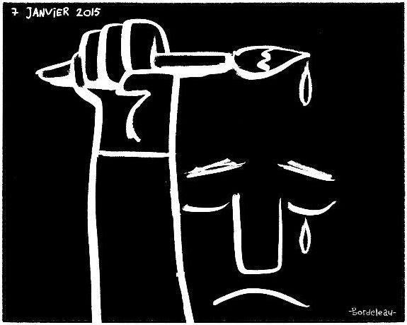 http://www.elle.fr/Societe/News/Charlie-Hebdo-les-illustrateurs-du-monde-entier-rendent-hommage-au-journal/Paul-Bordeleau-illustrateur-francais