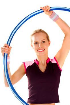 Hula Hoop Exercising