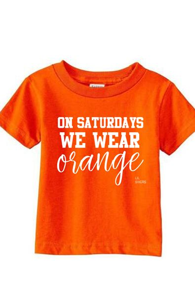 Lil' On Saturdays Orange Tee