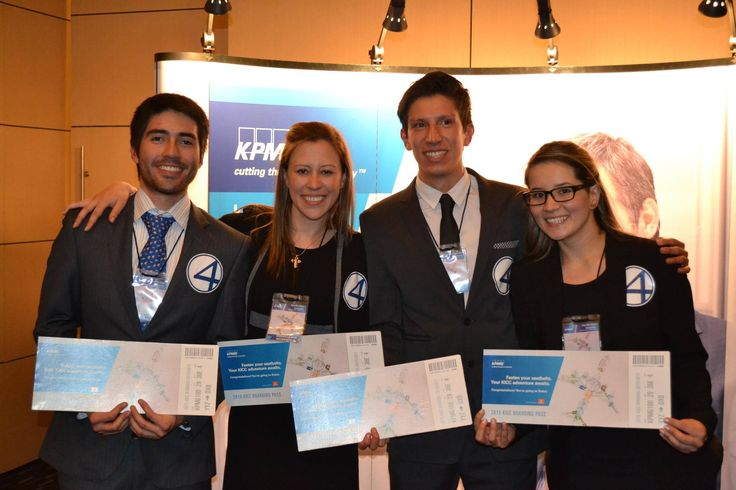 KICC 2015: Congratulations to the #KPMGICC national team from Colombia, Alan Garcia, Franco Sebastián Contreras Marín, Paula Andrea Suarez Roa and Sandra	Villanueva. Good luck at the finals in Dubai!