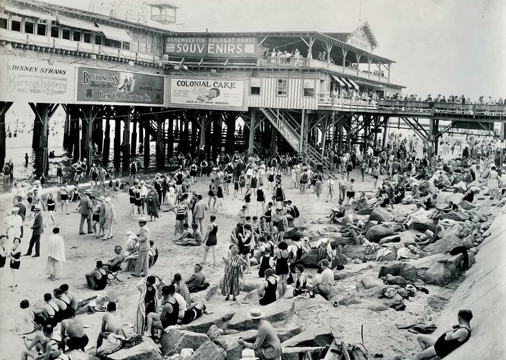 Not Dallas but...Galveston, Texas, in 1915 (yes, 1915, NOT 1900) before the devastating hurricane of August 16th, which still ranks (adjusted for inflation) as the fourth costliest storm in U.S. history. Look at the lady just below center in the huge dress, hand on hip. She looks like she's got a cell phone in her hand. Or the man, bottom right, leaning up against the seawall. He's chilling out, checking out the babes etc...