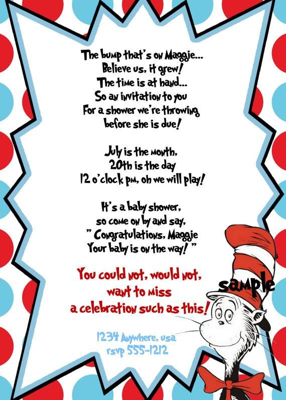 21 best Baby Shower images on Pinterest Dr seuss baby shower