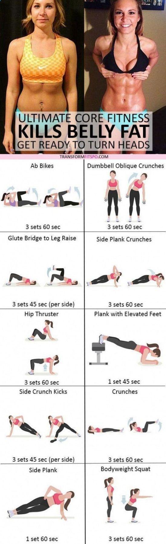 Belly Fat Workout – #womensworkout #workout #femal…