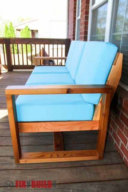 How to build a diy modern outdoor sofa sillones for Sofa exterior hierro